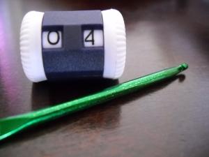 row counter and crochet needle